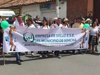 E.S.E. de Soacha marchó en el Día de la Soachunidad