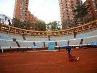Plaza de Toros la Santamaría esta lista para la Copa Davis