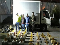 En Soacha cae camión con 123 kilos de marihuana