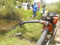 En Sibatè adelantan operativo contra captación ilegal de agua