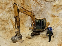 En Soacha se incauta maquinaria usada para minería ilegal
