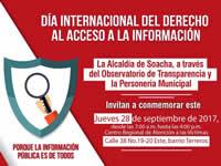 Soacha se une al Día Internacional del derecho a la información