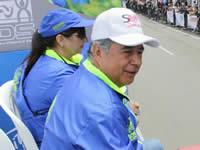 Alcalde de Soacha acompaña la Carrera Atlética Internacional