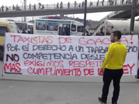 Taxistas de Soacha también marcharon por sus derechos