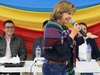 Betty Zorro sigue su campaña en Soacha