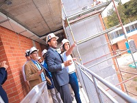 Avanzan las obras de ampliación en colegios de Villapinzón y Chocontá