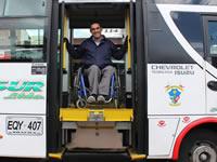 Transporte público de Soacha adopta medidas para  personas con discapacidad