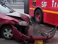 Accidente por invasión del carril de Transmilenio en Soacha