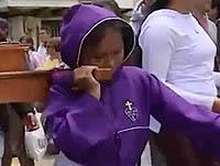 Niños protagonizan Viacrucis en Cajicá