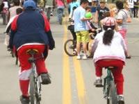 Profesionales de la salud se toman la Ciclovida en Soacha