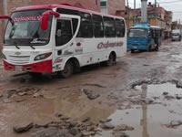 Las calles de Soacha son un desastre