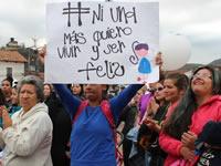 Mujeres de Soacha protagonizan  'plantón' contra el abuso sexual