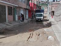Cuatro años arreglando una vía en Soacha y nada que la terminan