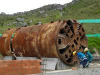 En Soacha  sacan dos tuneladoras que llevaban 7 años enterradas