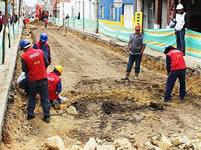 Empieza recuperación de una de las vías más dañadas del centro de Soacha
