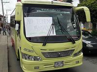 Al medio día inició paro de buses en Sibaté