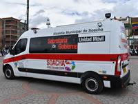 Este es el vehículo de la Secretaría de Gobierno móvil de Soacha