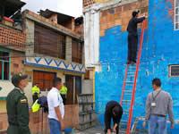 Sibaté embellece sus barrios de colores