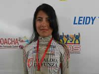 Mujer ciclista soachuna  logra triunfo en Funza