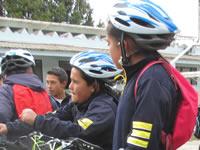 Los niños que pedalean por la protección del páramo Romeral de Sibaté
