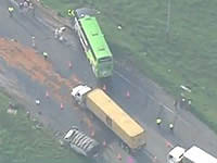 Accidente en el Alto de Rosas causa trancón en vía Bogotá-Girardot