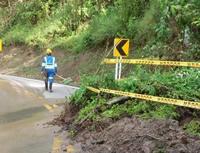 Por deslizamientos,   cierre preventivo en la vía   Sibaté – Fusagasugá