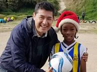 Reconocido narrador de fútbol visita Soacha