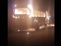 Autoridades dan de baja a responsables de incendiar bus de Autofusa
