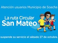 Ruta circular de Transmilenio  ´San Mateo´  suspende  servicio este sábado en Soacha