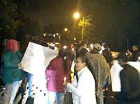 Protestas en Sibaté por cortes del servicio de energía  por más de quince días