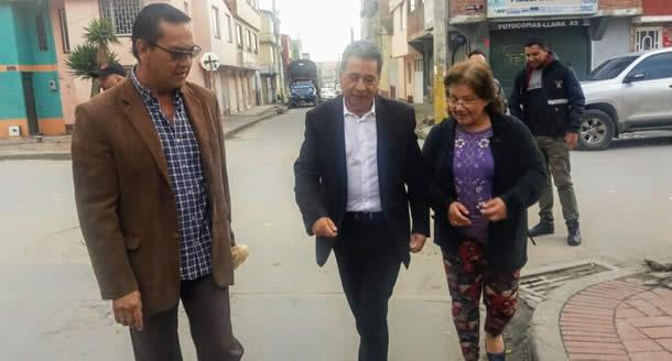 Alcalde anuncia intervención vial en barrio de la comuna seis