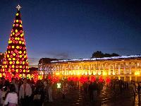 Con un árbol de 50 metros, la Navidad llega a Bogotá