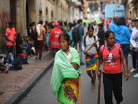 «Estamos durmiendo como marranos»: líder embera en Bogotá