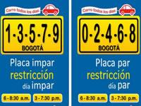El martes vuelve el pico y placa a Bogotá