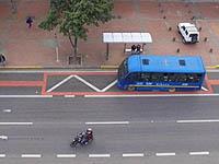 Comenzaron  sanciones económicas en carril preferencial de la avenida Boyacá