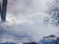 Por fin controlan incendio en Soacha