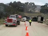 Operativos de control a vehículos de carga pesada en Soacha