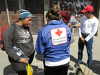 Cruz Roja se toma la Autopista Sur de Soacha para apoyar a venezolanos