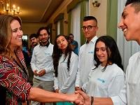 Primeras Damas de Colombia y Alemania se reunieron con jóvenes  Unicef de Soacha