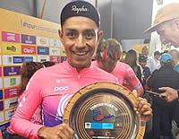 El soachuno Daniel Martínez finalizó tercero en el Tour Colombia 2.1