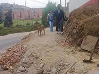 Por gestión de una junta comunal se construye sendero peatonal en Soacha