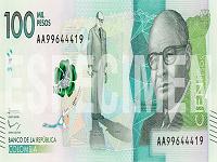 Billete de $ 100.000 cumple 3 años en Colombia