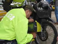 SIjín y Policía realizan campaña contra el robo de motos en Soacha