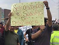 Vendedores informales de Soacha protagonizan protesta pacífica
