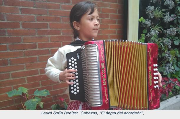 Pequeña acordeonera soachuna finalista en festival vallenato