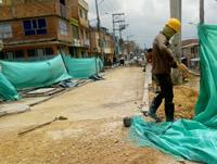 Reconstruyen muro de contención en la comuna uno de Soacha
