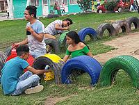 Jornada de embellecimiento en el parque la Amistad de Soacha