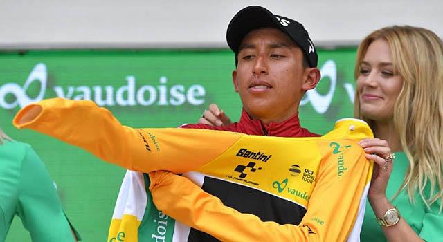 El zipaquireño Egan Bernal se coronó campeón del tour de Suiza