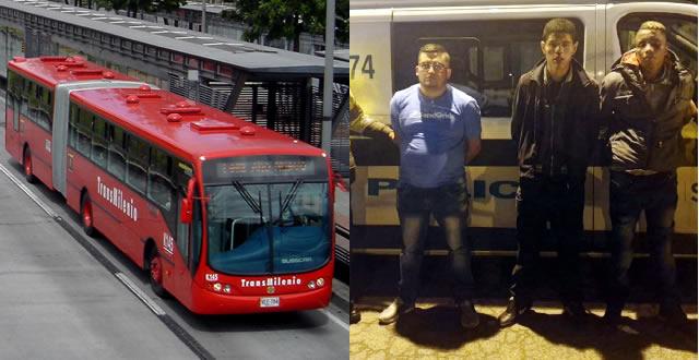 Capturan delincuentes que operaban en TransMilenio