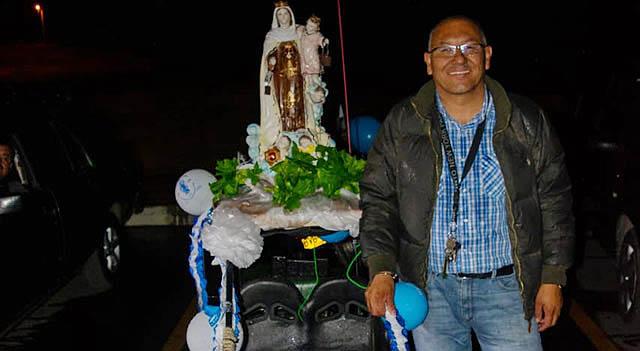 Primera rodada y bendición de la Virgen del  Carmen para motociclistas en Sibaté